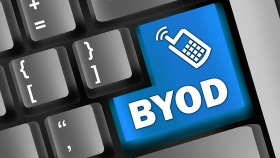 BYOD button on computer keyboard
