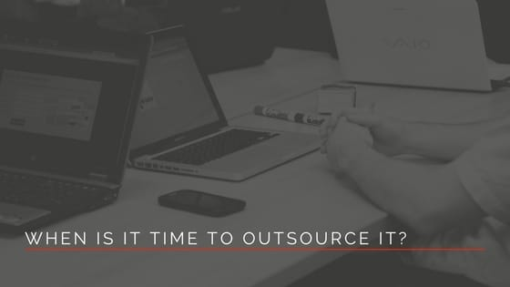 team who is outsourcing it services for their small business