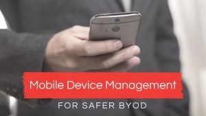 Mobile device management post art