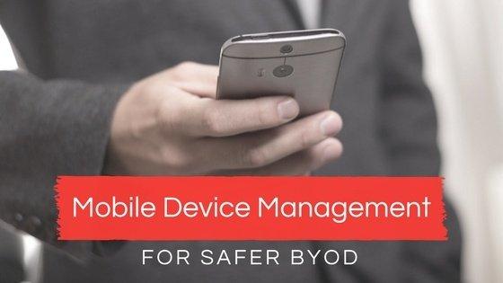 Mobile device management post art