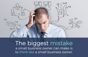 owner making small business network security mistakes by IT Planning without professional help