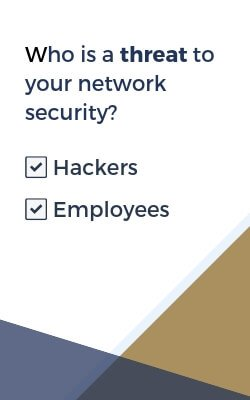 both hackers and employees are threats to network security