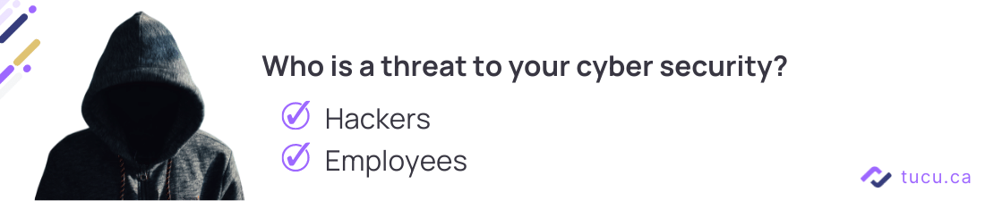employees are cyber security threats tip