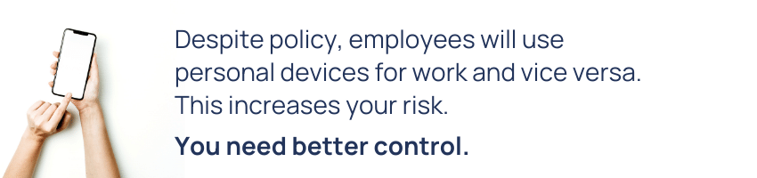employees personal and work devices tip