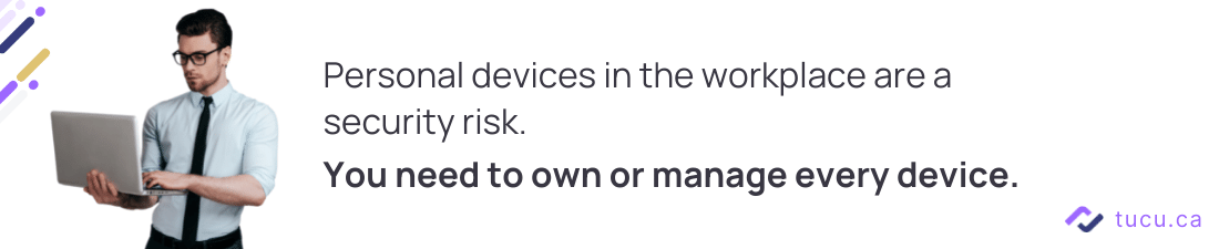 personal devices at work are a security risk tip