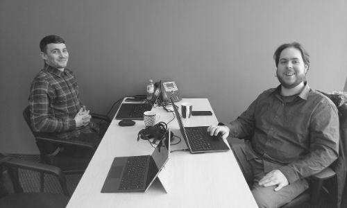 team members at work