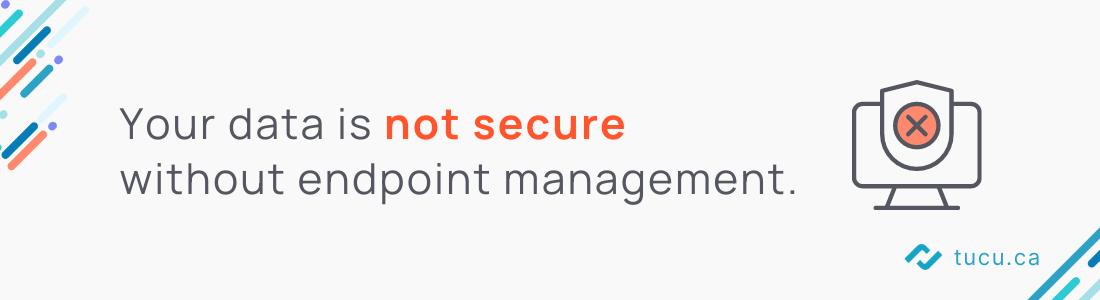 No endpoint management =