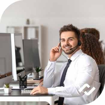 managed IT support services help desk staff at work