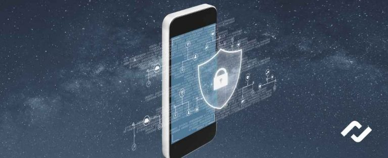 concept art of mobile device management for data security