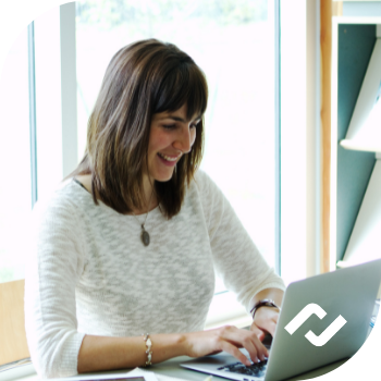 woman with small business it management services