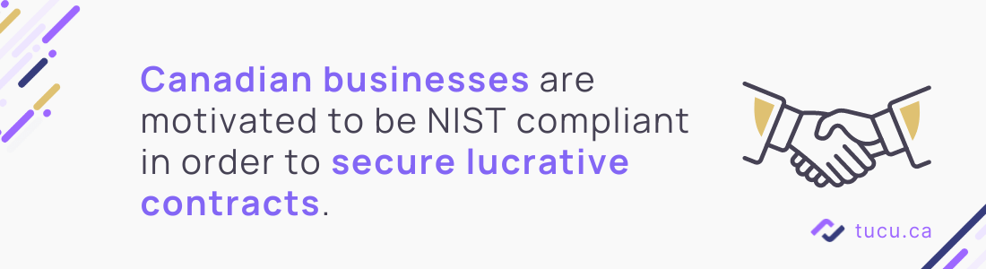 Canadian businesses motivated to be NIST compliant to win business