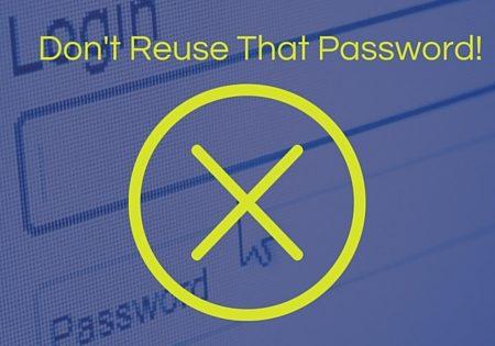 a user reusing passwords