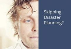 business owner considering no disaster recovery plan