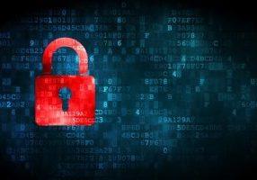 digital lock indicating weak Data Security policy