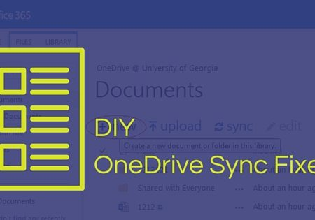 microsoft onedrive sync issues screenshot with text overlay